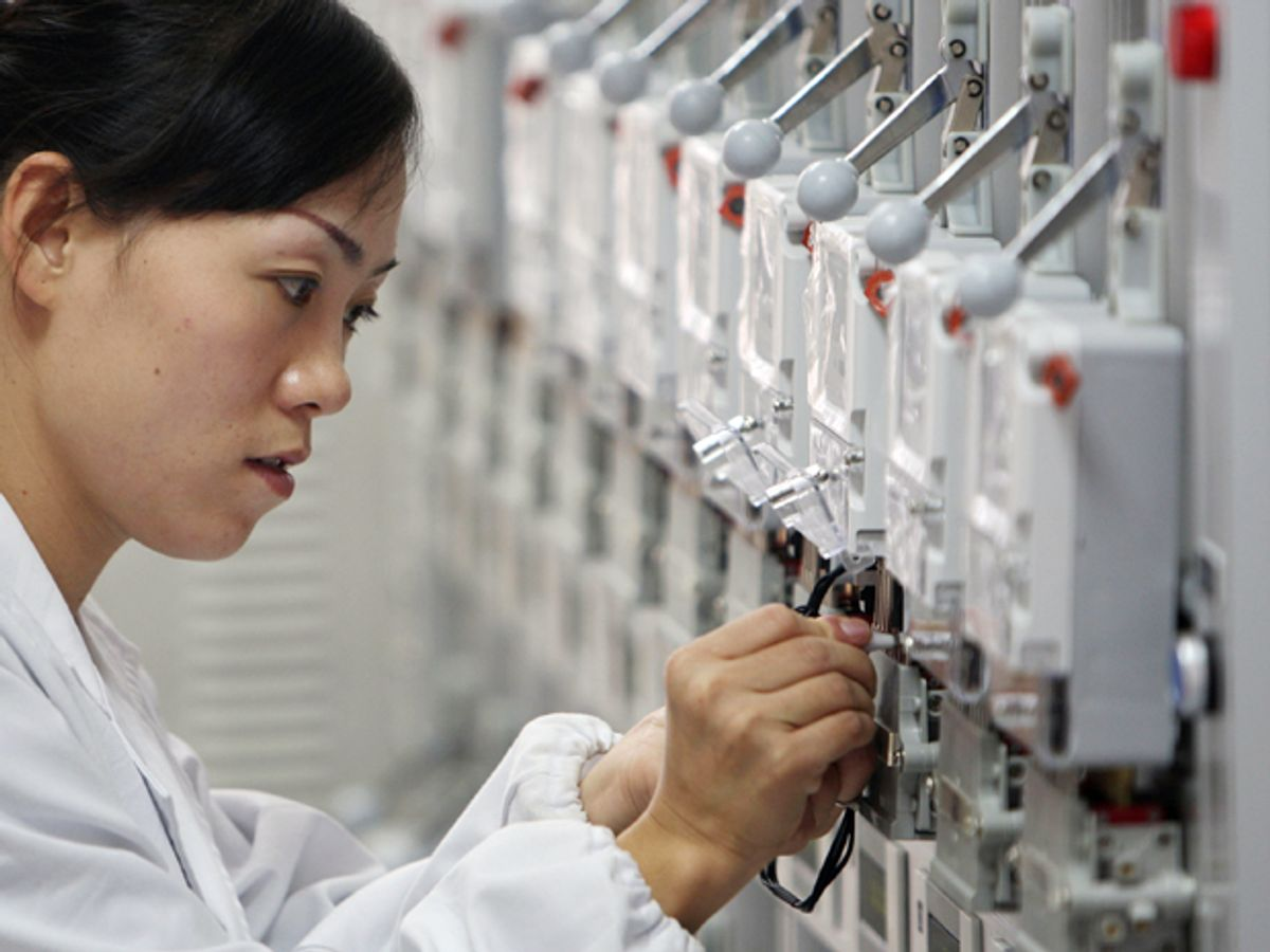 China Pushes Past U.S. in Smart Grid Spending