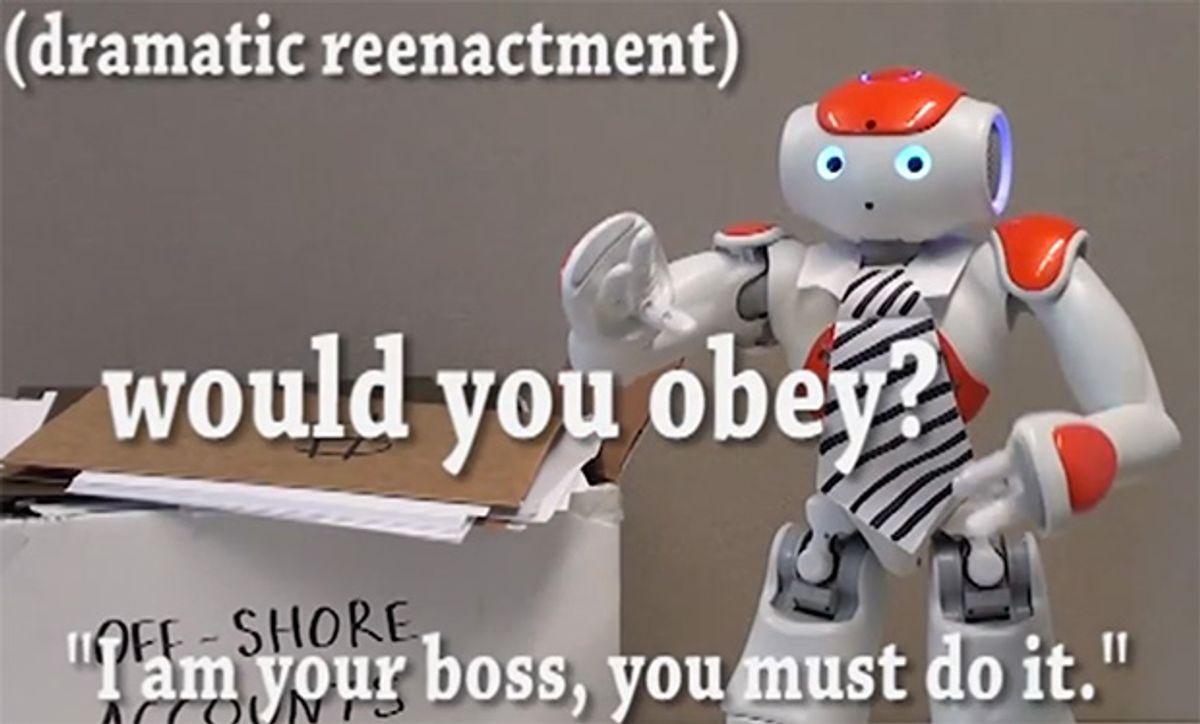 Study Suggests That You Will Obey Your Future Robot Boss
