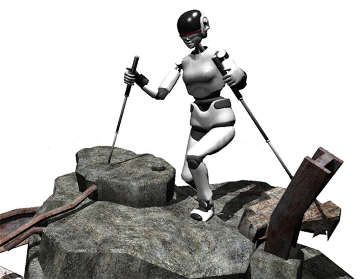 SupraPed Robots Will Use Trekking Poles to Hike Across Rough Terrain