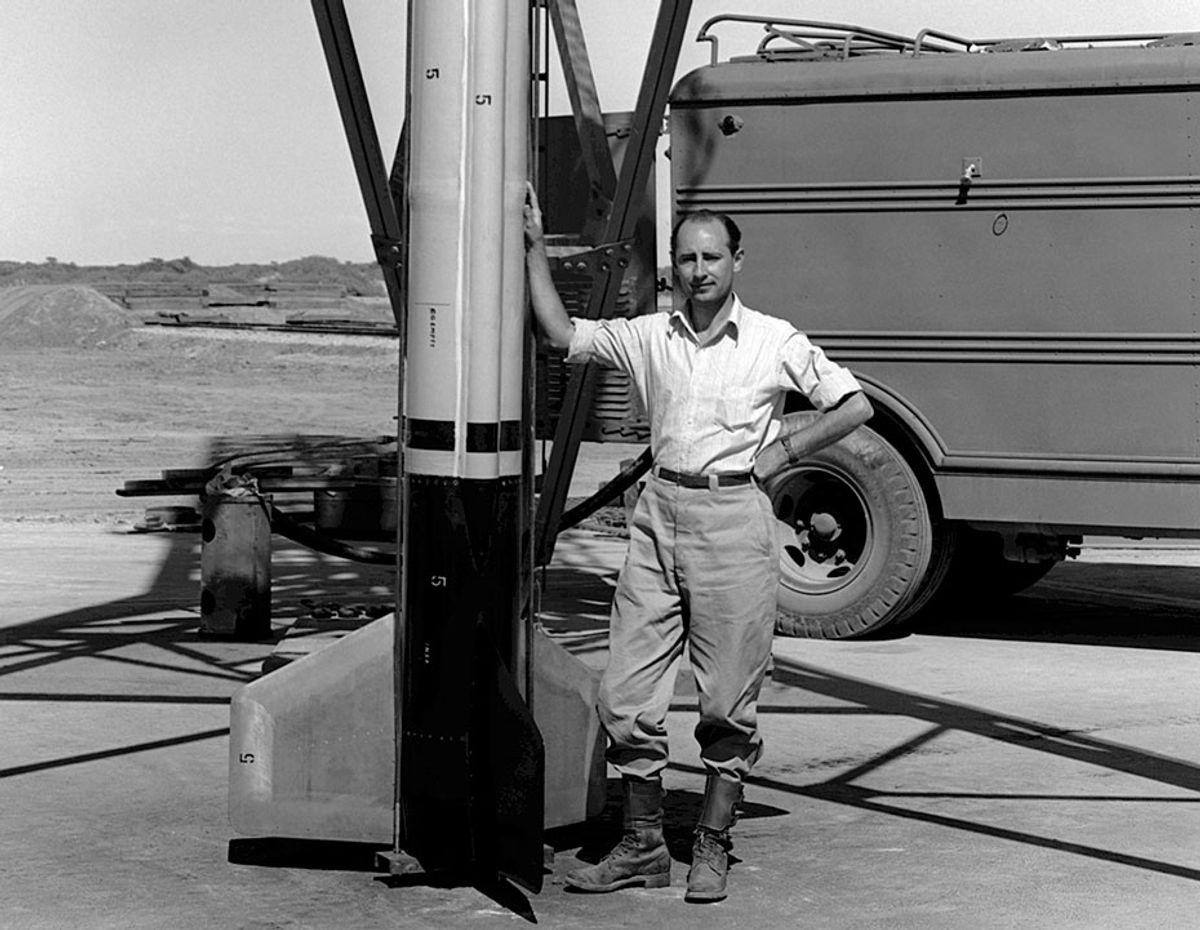 Frank Malina, shown in 1945