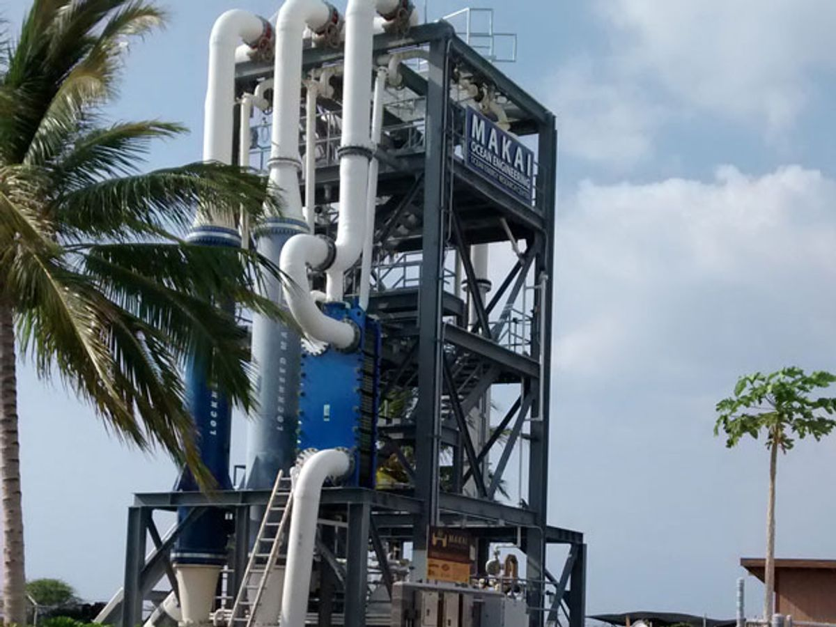 Ocean Thermal Energy: Back From the Deep