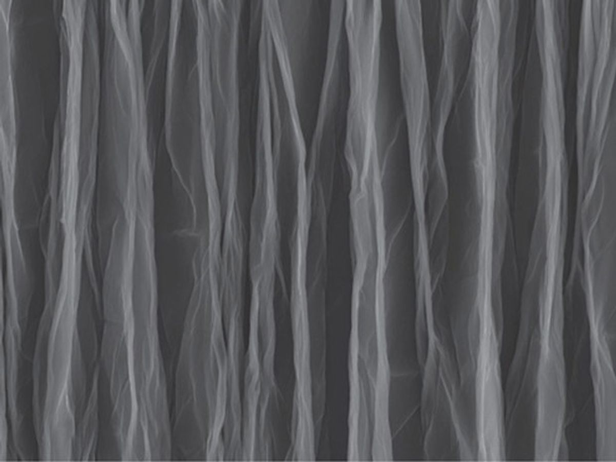 Crumpled Graphene Offers Inexpensive Way to Achieve Flexible Supercapacitors