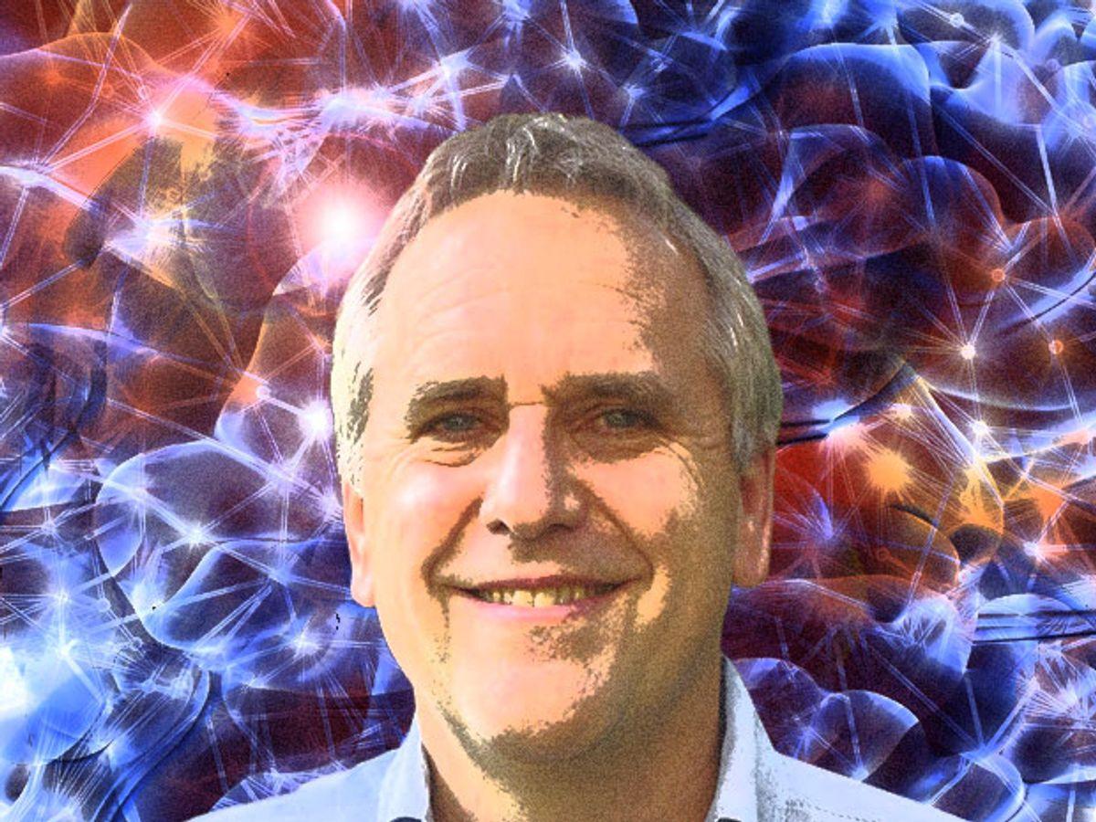Photo-illustration of IEEE Fellow, Michael I. Jordan.