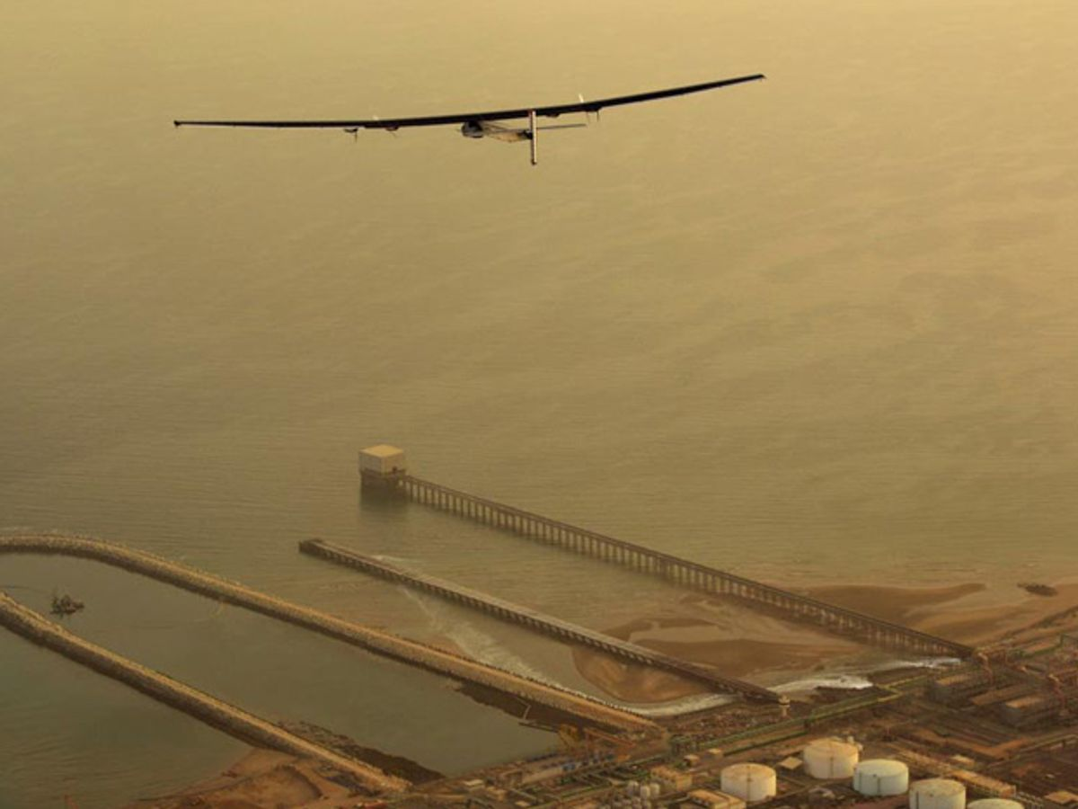 Solar Plane Finishes First Sea Crossing of Epic Journey