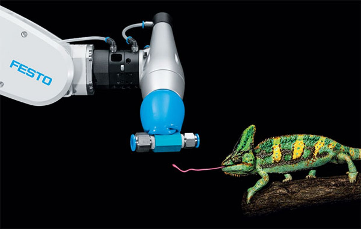 Video Friday: Chameleon Gripper, Swarmie Robots, and Superman With GoPro