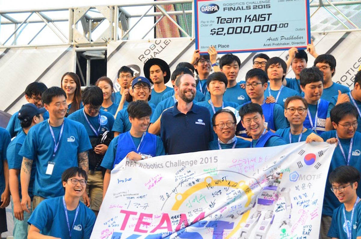 Team KAIST Wins DARPA Robotics Challenge
