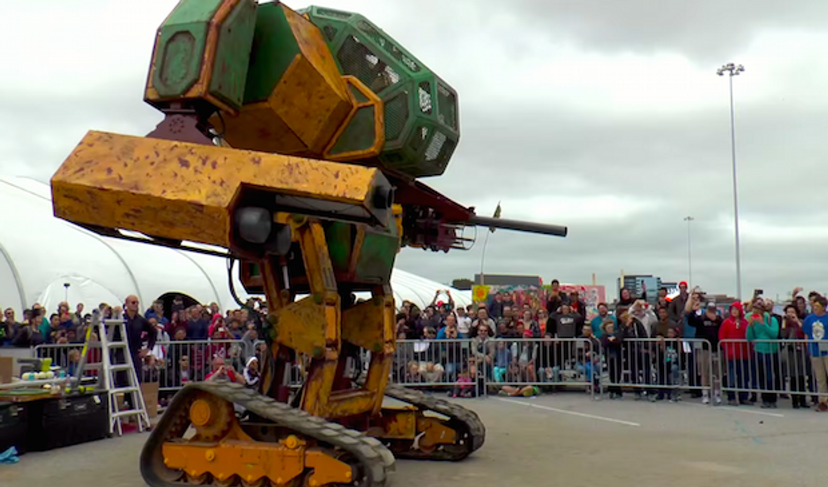 Video Thursday: Giant Robot Duel, Snake Monster on Stairs, and How Driverless Cars See the Road
