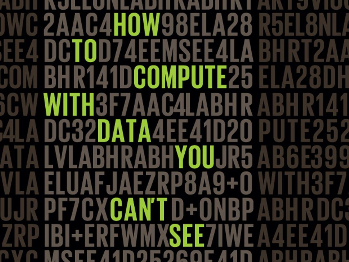 How to Compute With Data You Can't See