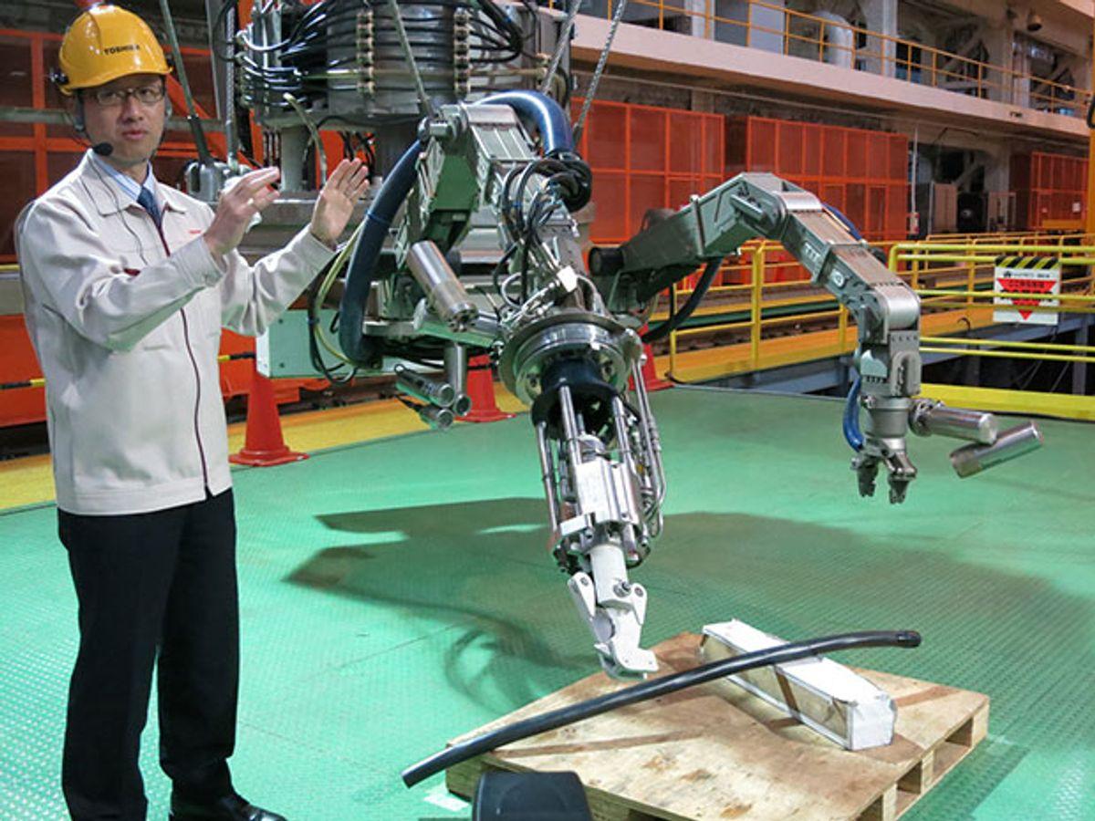 Toshiba Prepares Amphibious Robot for Fukushima Reactor Pool