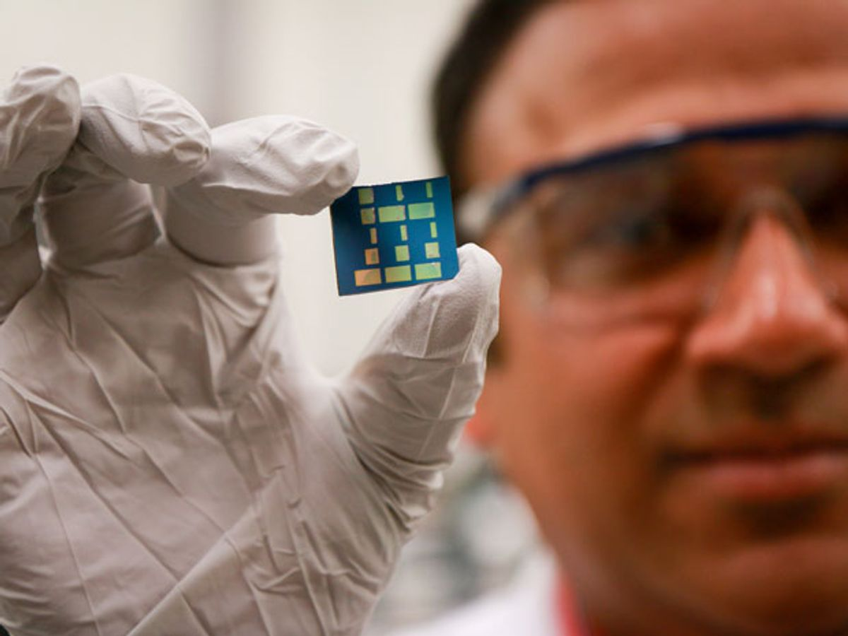 A chip with 2-D dimensional tin oxide (SnO)