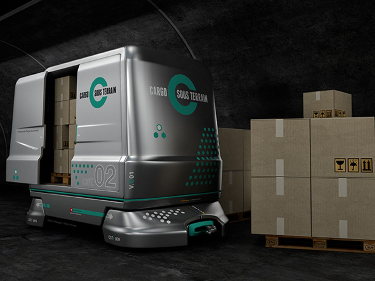 Swiss Considering $3.4 Billion Cargo Tunnel for Automated Delivery Trucks