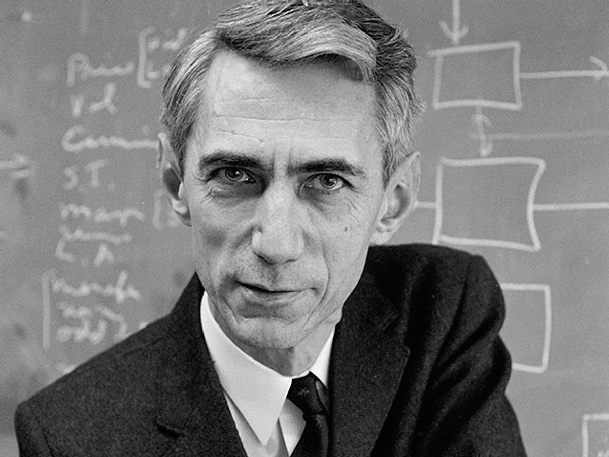Photo of Claude Shannon.