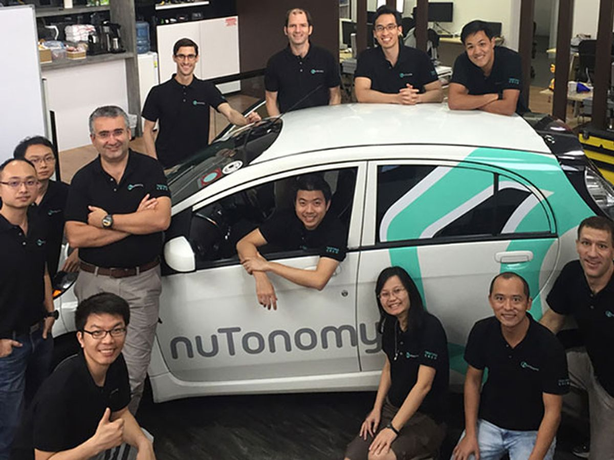 nuTonomy to Test World's First Fully Autonomous Taxi Service in Singapore This Year