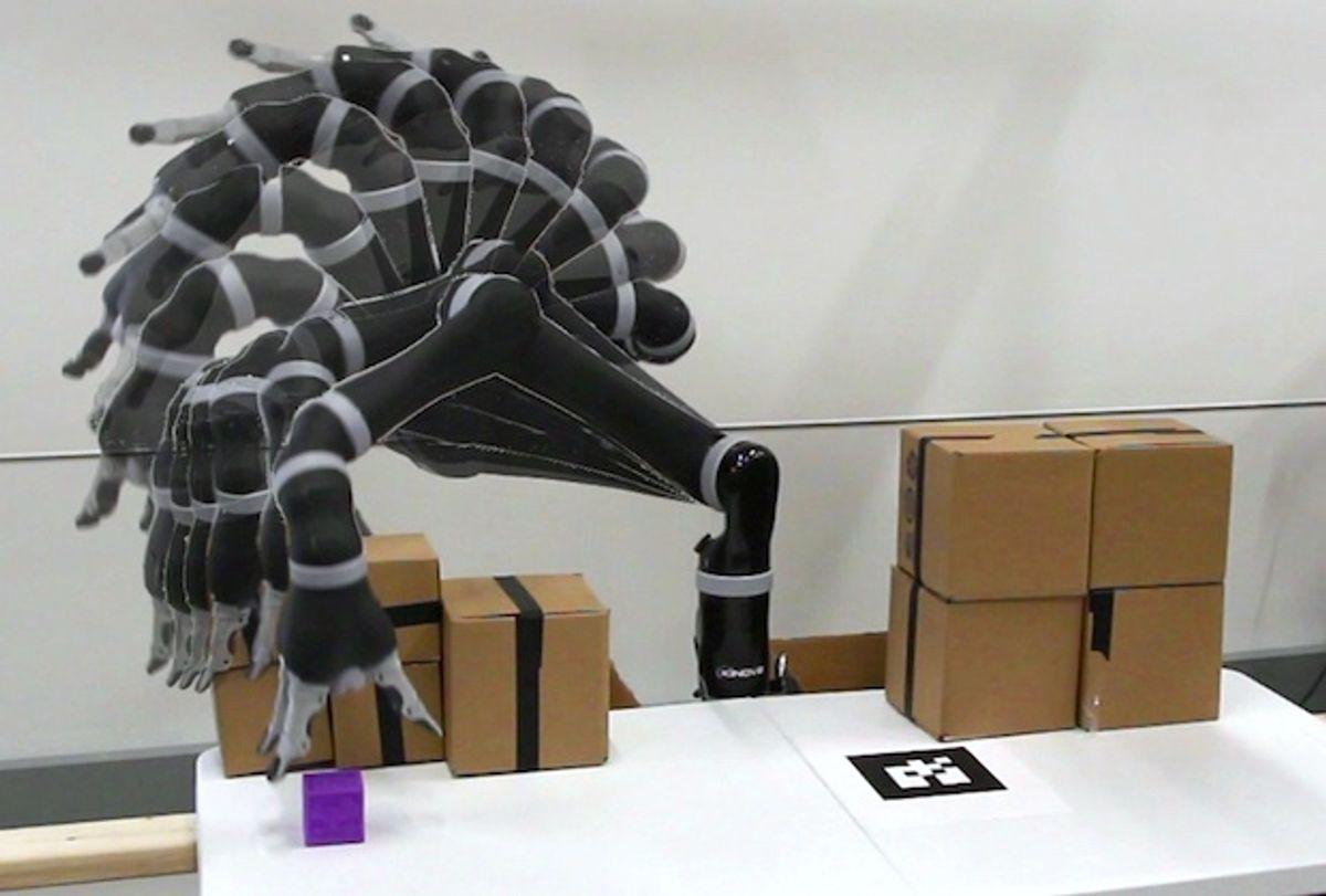 Jaco robot arm doing motion planning with custom FPGA processor