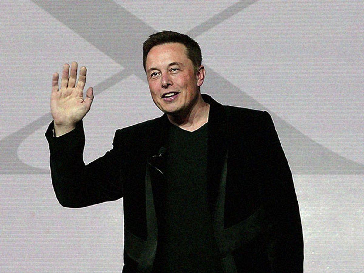 Elon Musk waving good-bye