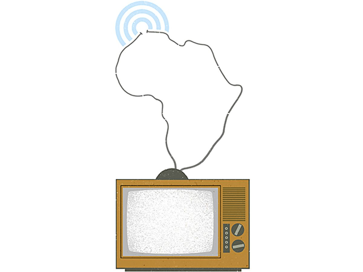 Opening illustration for Malawi and South Africa Pioneer Unused TV Frequencies for Rural Broadband.