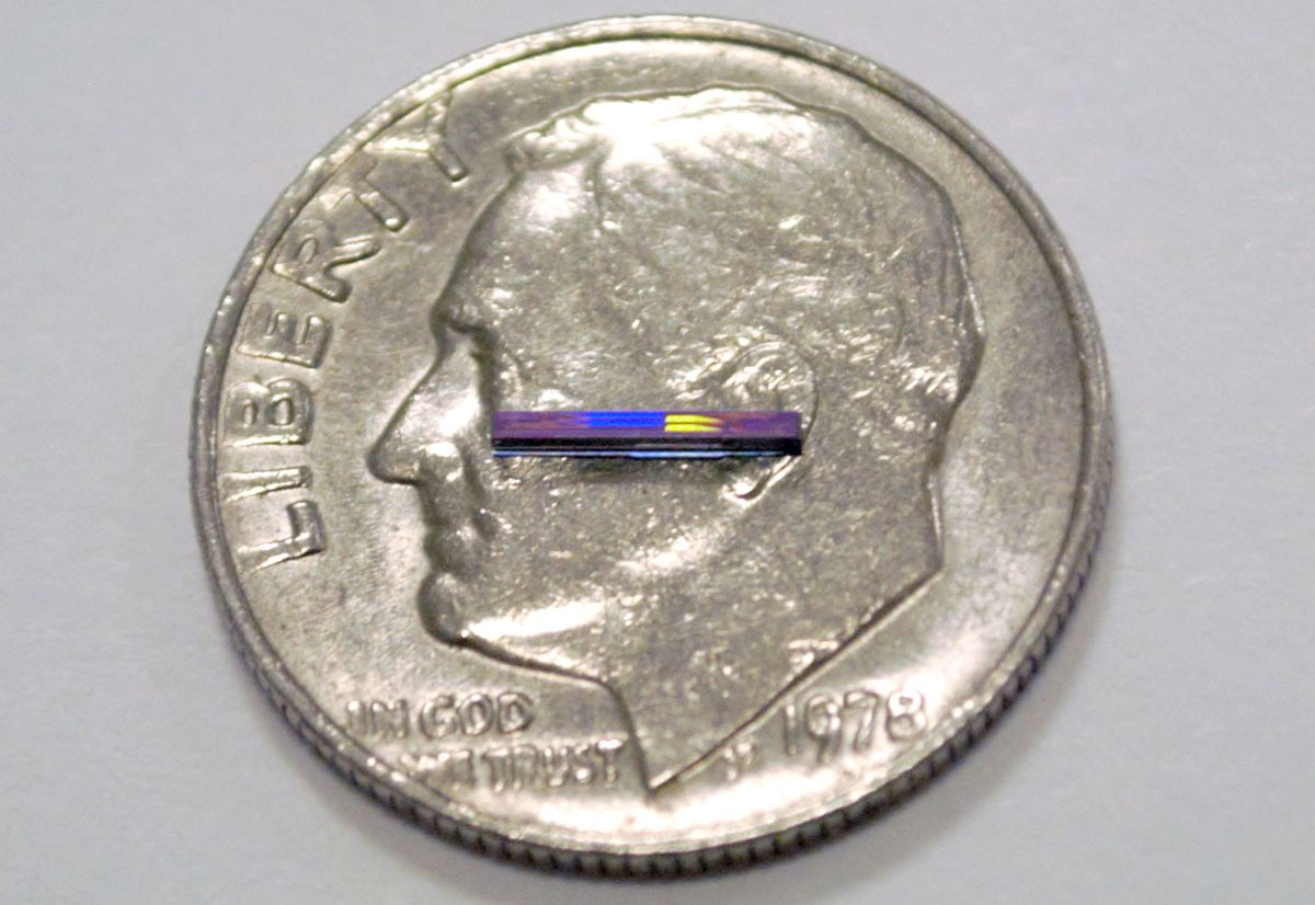 MIT's lidar chip is smaller than a dime