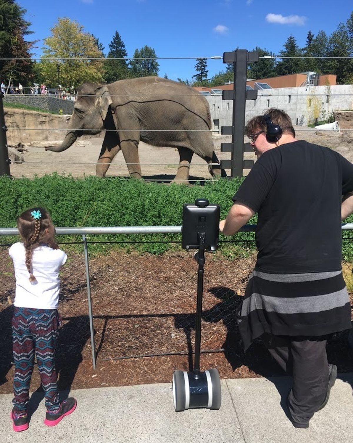 Double 2 telepresence robot at the Oregon Zoo