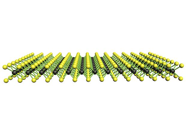 At just one atom thick, tungsten disulfide allows energy to switch off and on, but it also absorbs and emits light, which could find applications in optoelectronics, sensing, and flexible electronics.