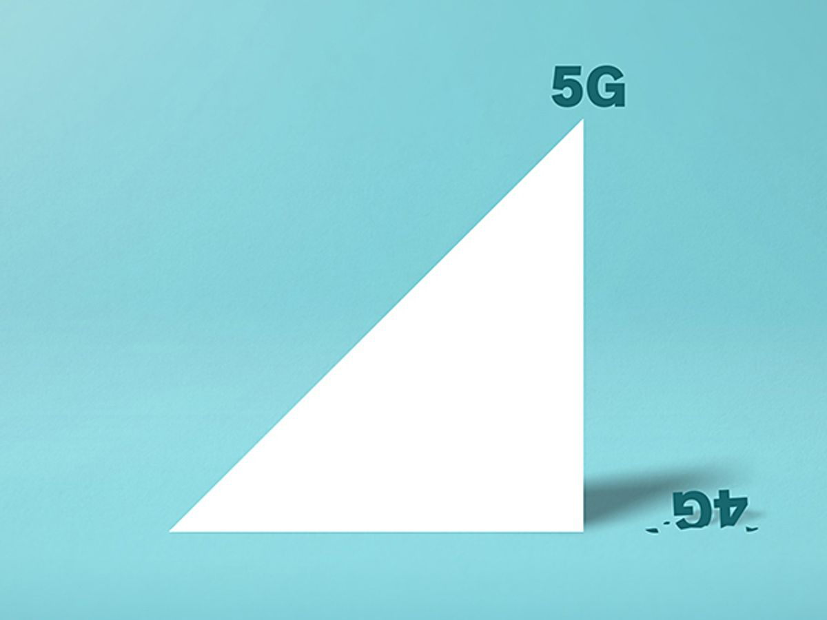 Illustration graph with 5G at the top