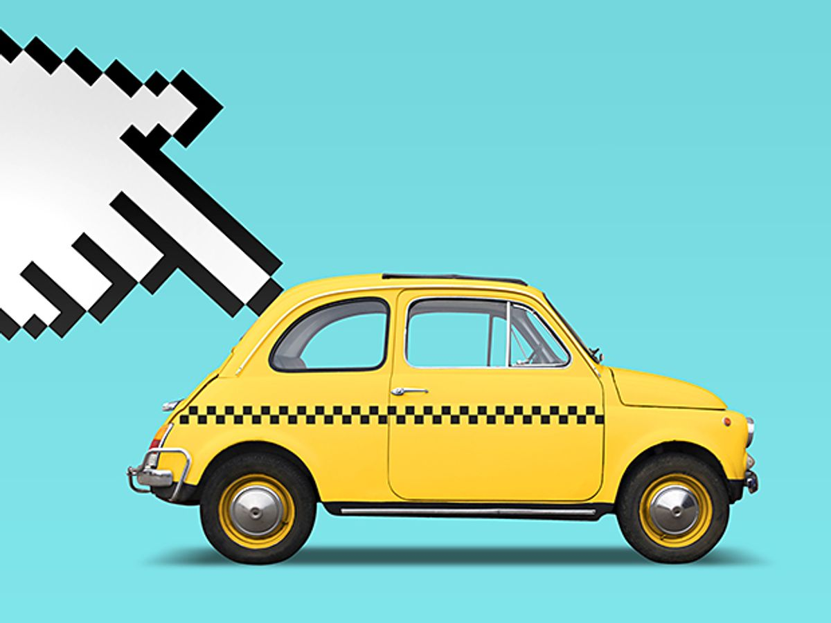 Illustration of a taxi