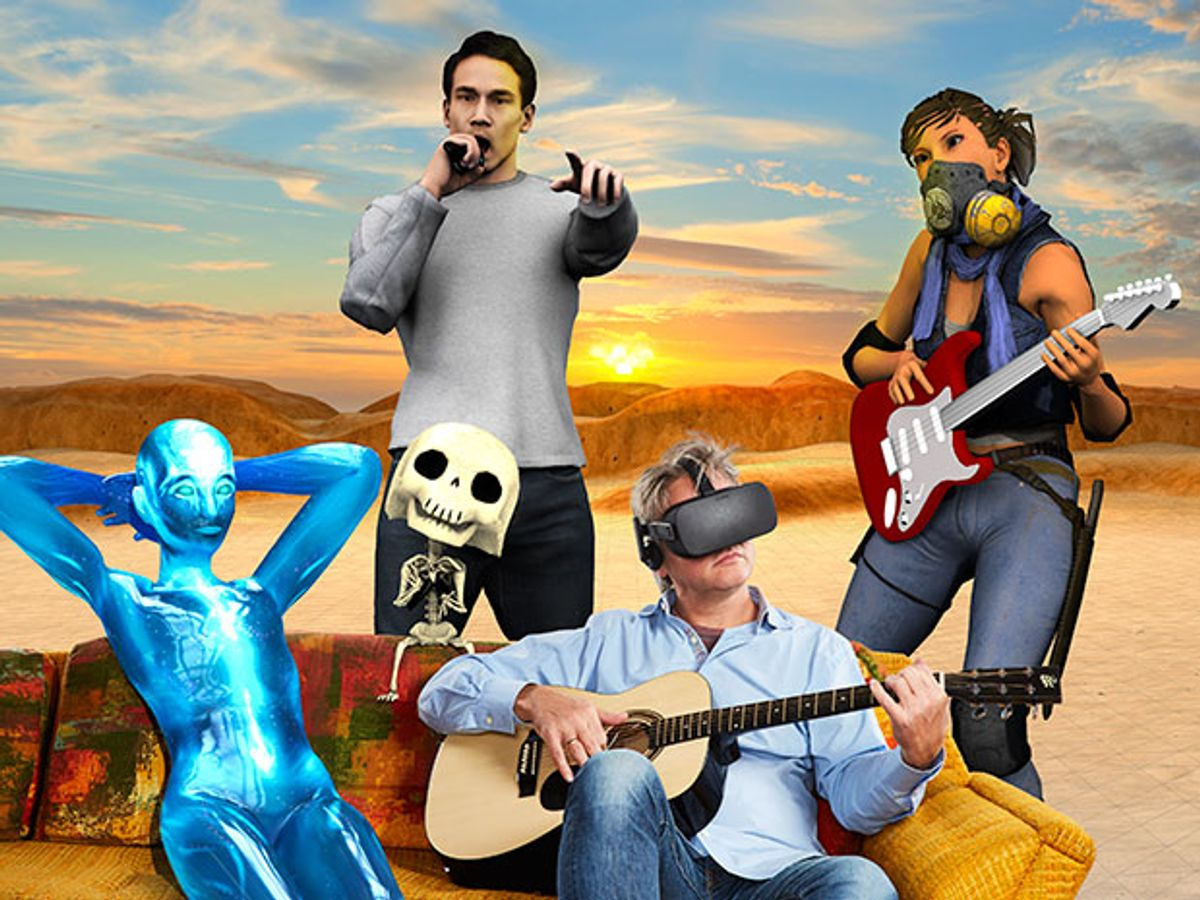 Virtual-reality pioneer Philip Rosedale in photo-illustration
