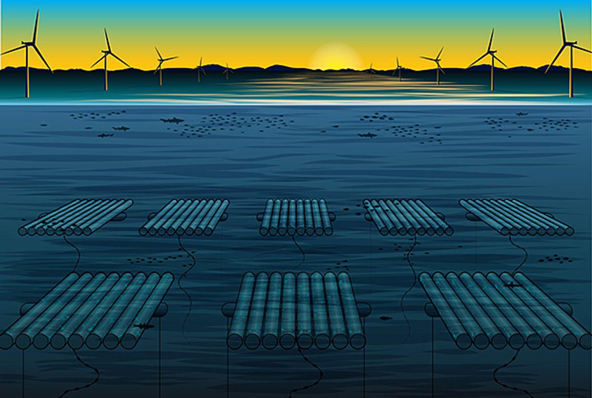 illustration of underwater data center