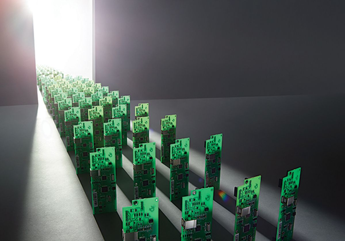 Image of chips marching