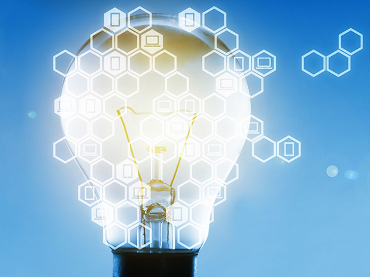 photo-illustration of light bulb