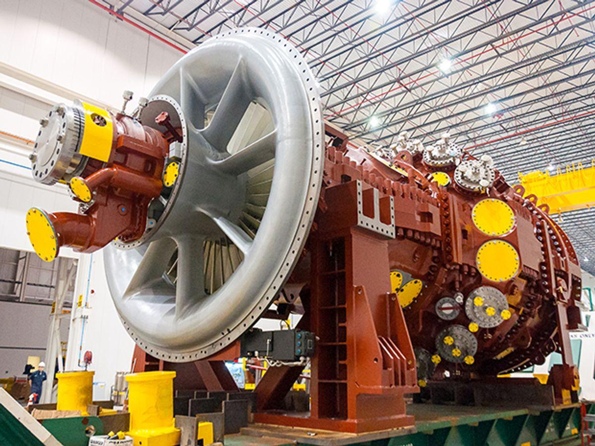 View of a Mitsubishi-made gas-fired turbine