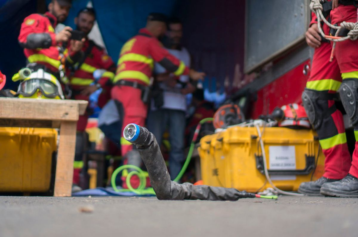 CMU snake robot in Mexico City after earthquake
