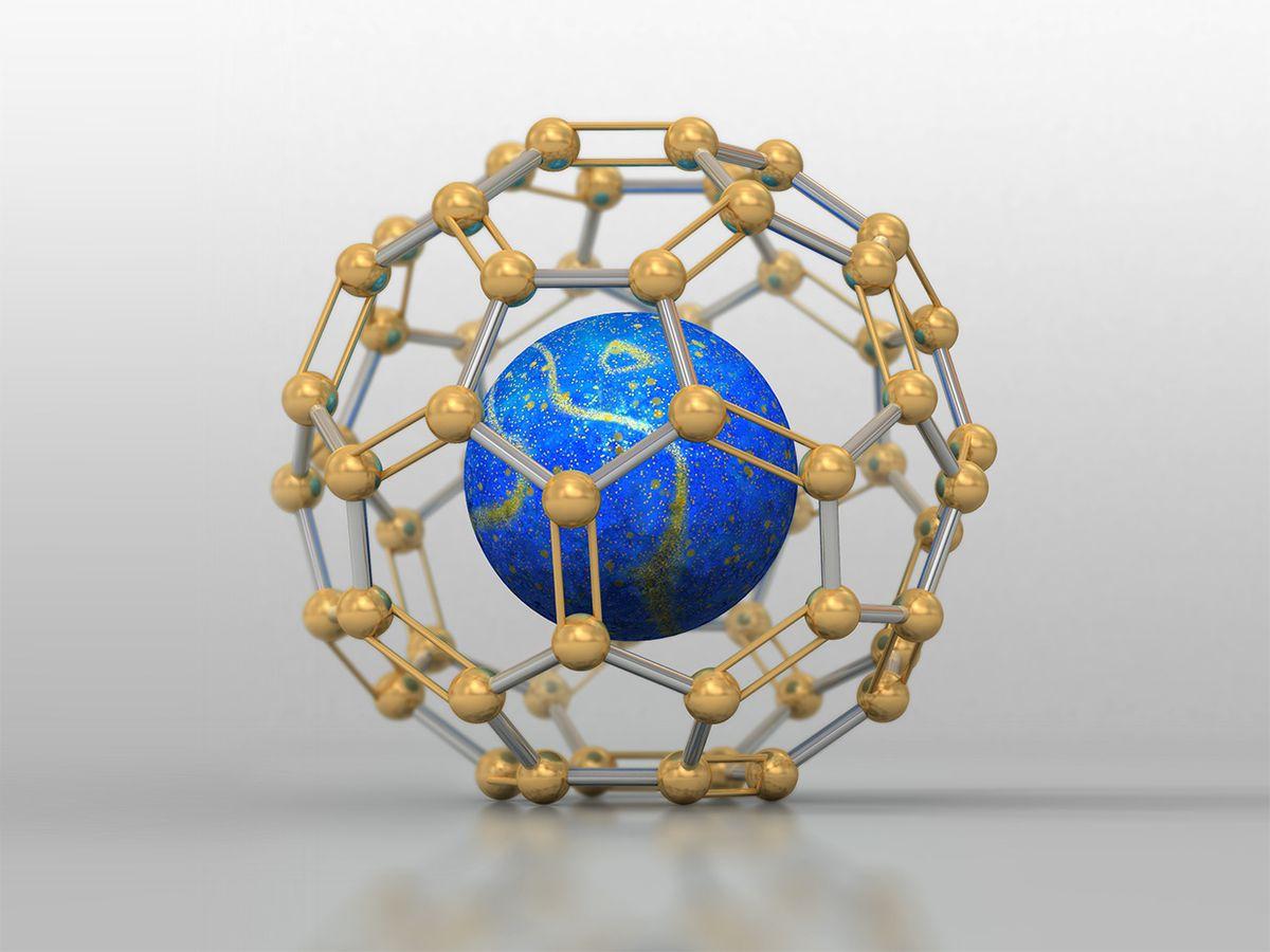 Illustration of caged atom.