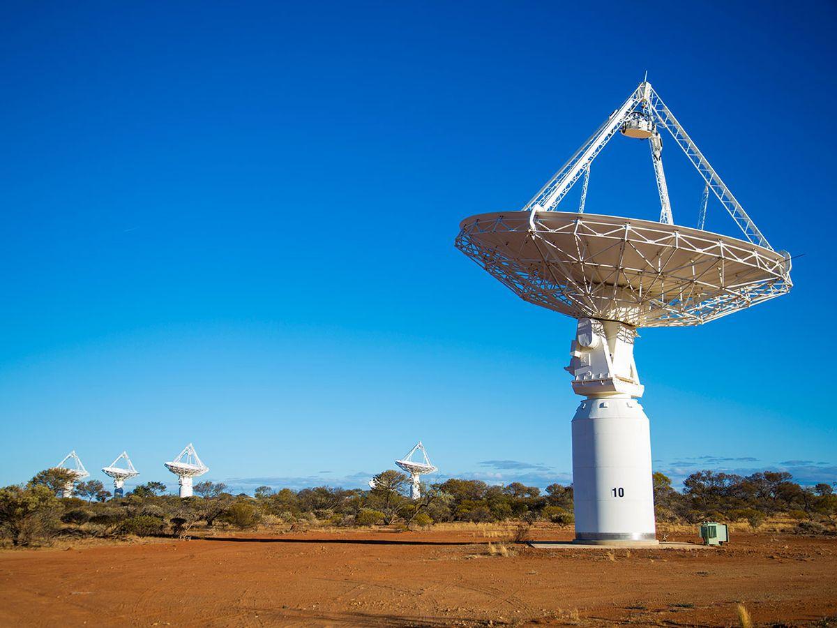 Photo of Murchison Radio-astronomy Observatory, in Western Australia.