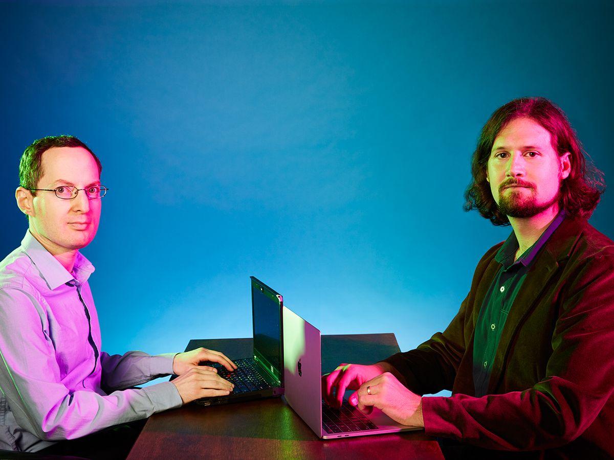 Luke Wagner [right] and his Mozilla colleague Alon Zakai.