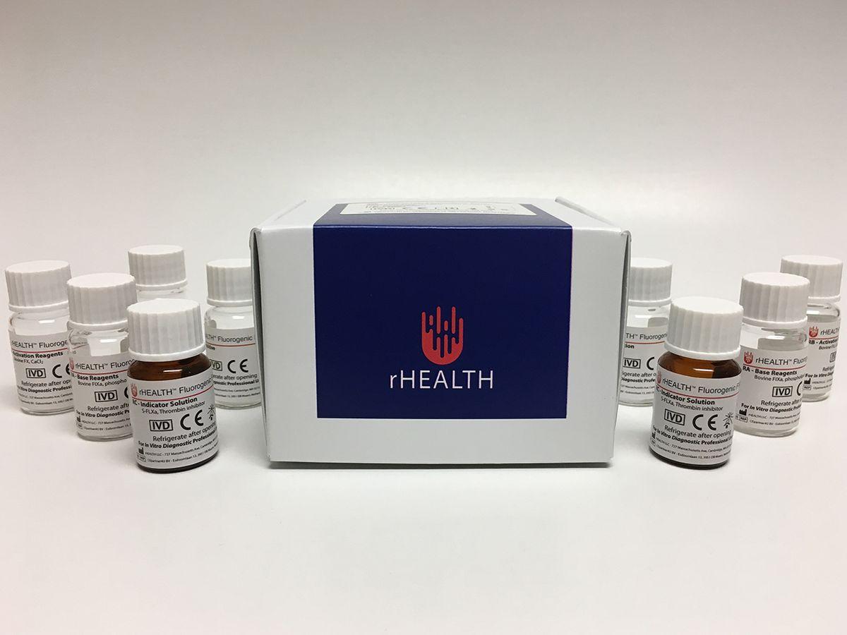 rHEALTH's FVIII Hemophilia A blood testing kit.