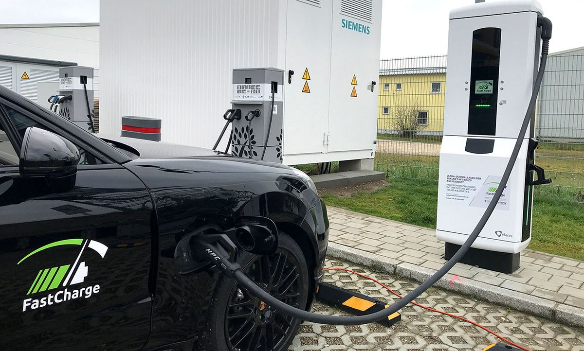 'FastCharge' prototype charging station.