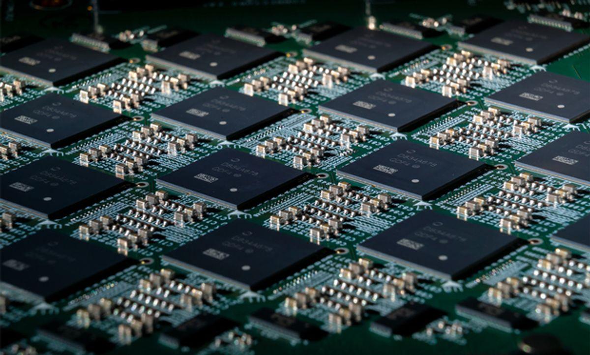 A close-up image of Intel's Nahuku chip.
