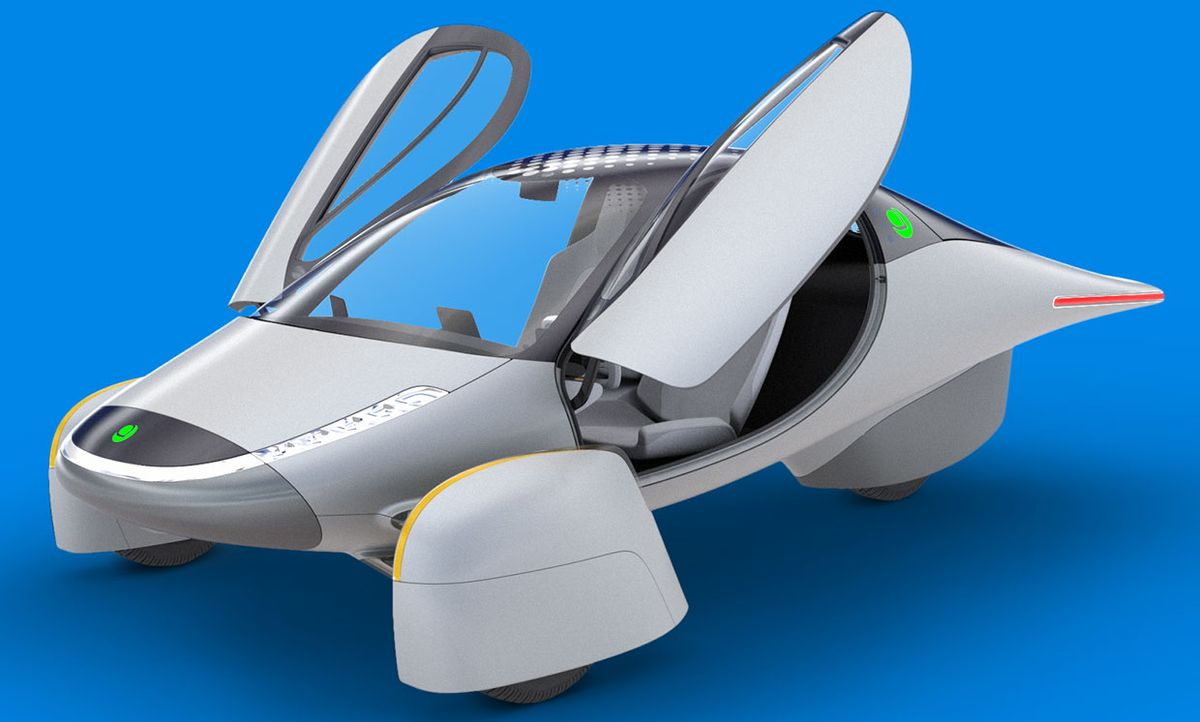 Rendering of the new vision for the Aptera electric car.