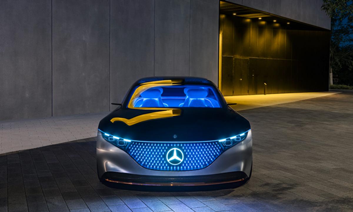 Image of the Mercedes EQS car