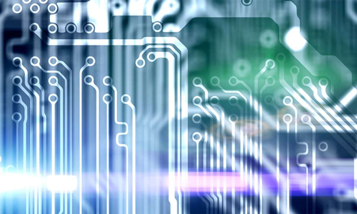 Abstract illustration of semiconductor