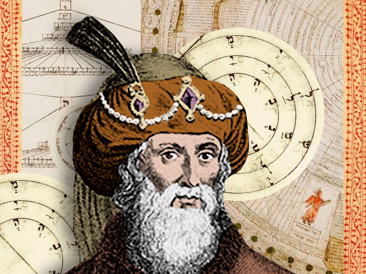 Mystic Abraham Abulafia and his system of combining letters of the Hebrew alphabet in strange and seemingly random ways (also known as &ldquothe science of the combination of lettersrdquo;).