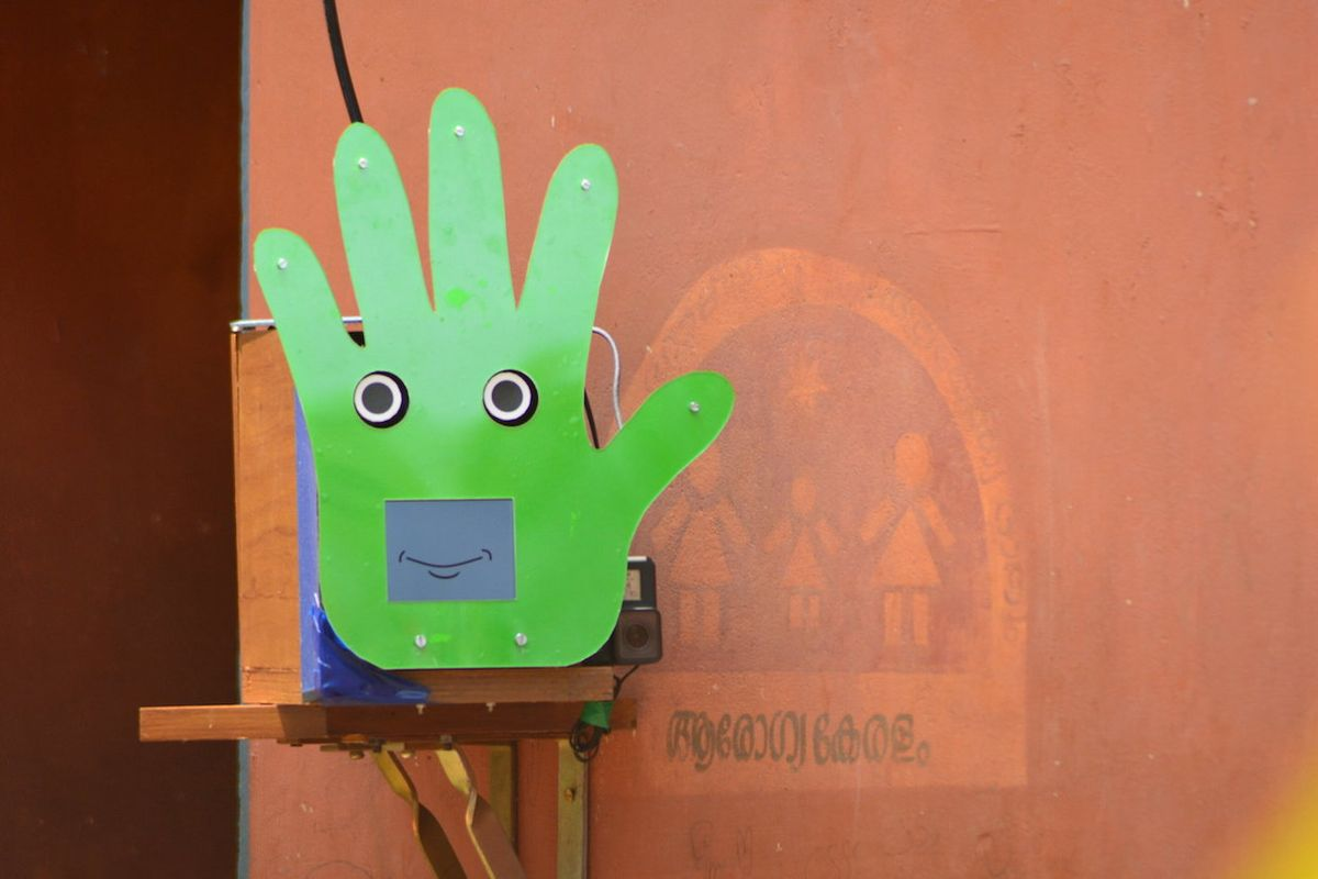 Pepe Robot Teaches Kids Hand Washing Skills in Rural India