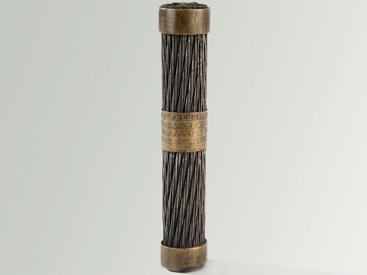 Tiffany's transatlantic cable souvenir.