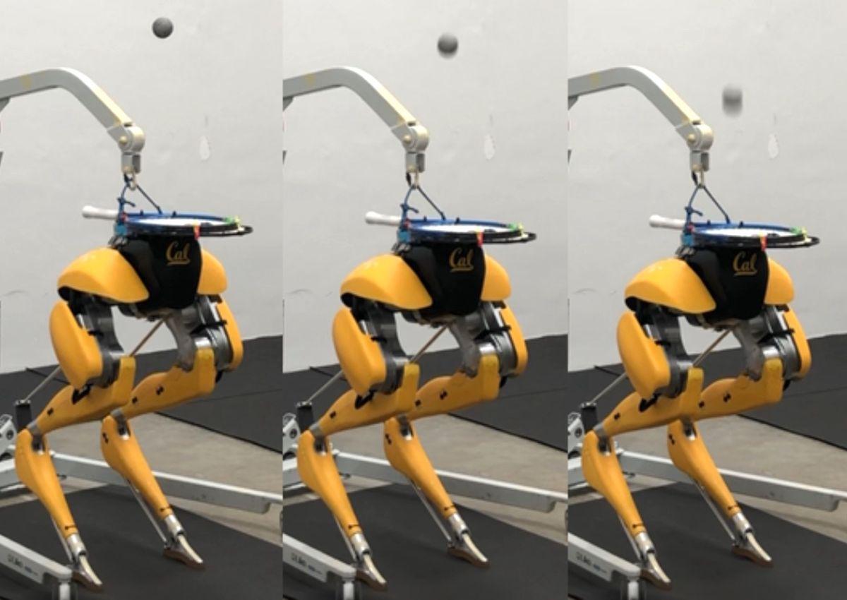Cassie Cal bipedal robot juggling