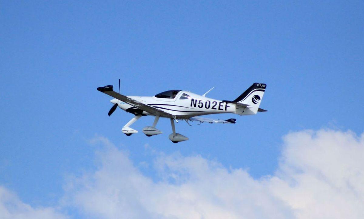 Bye Aerospace's proof of concept eFlyer 2 plane.