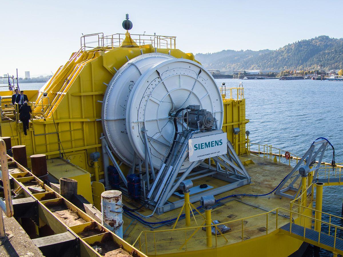Photo of OceanEnergy's buoy.