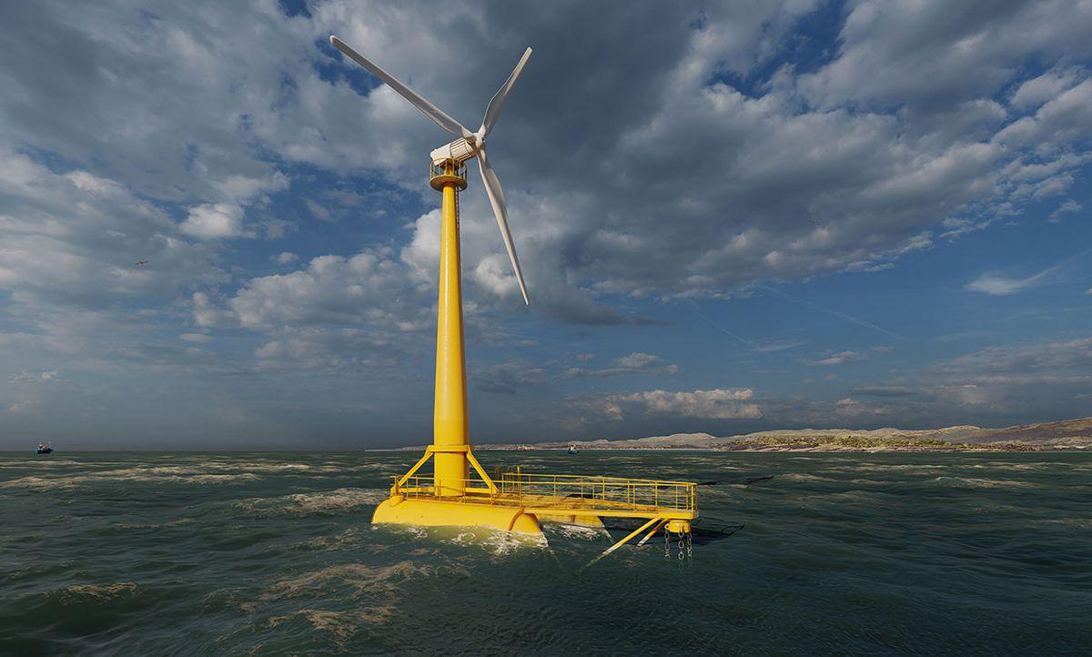 Saitec BlueSATH floating turbine