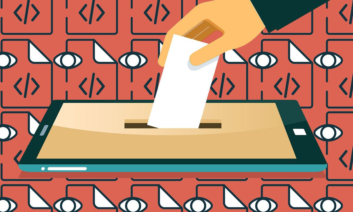 Illustration of open source voting