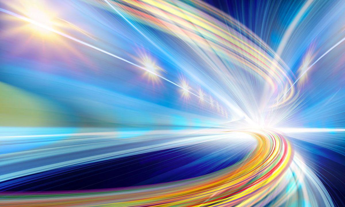 Illustration representing fast optical fiber
