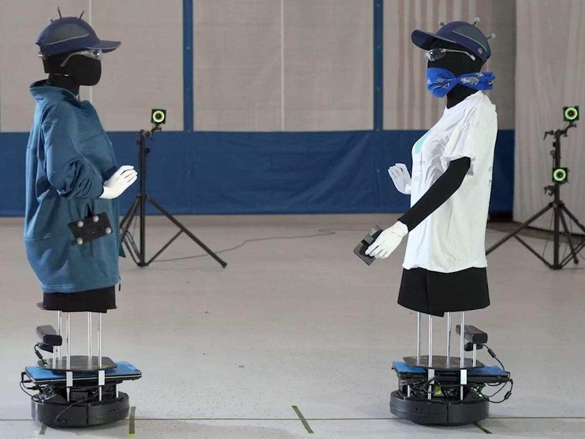 At MIT's Lincoln Laboratory, robots equipped with sensors help determine the range and strength of bluetooth signals for digital contact tracing.